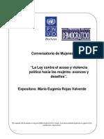 Documento de análisis - Ley contra el Acoso y la Violencia Política hacia las Mujeres