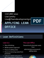 Applying Lean to the Workplace