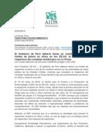 Nota de Prensa AIDA - Caso La Oroya