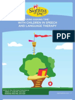 Signing Time Speech and Language Therapy Guide