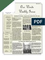 Newsletter Volume 4 Issue 22
