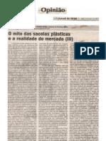 O MITO DAS SACOLAS PLÁSTICAS E O MERCADO (III) OJornaldeHoje09abr12