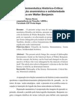 (CONTEXTO-UERN)Nova Hermenêutica Histórico-crítica= revolução anamnésica e solidariedade histórica em Walter Benjamin