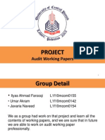 Working Papers Presentation - Project of Advance Auditing