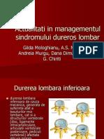 Managementul Sindromului Dureros Lombar