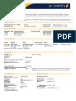 Jet Airways Web Booking eTicket ( GJOUAJ ) - Baral