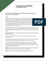 MB0040 Statistics for Management