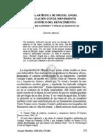 2. LA OBRA ARTÍSTICA DE MIGUEL ÁNGEL Y SU RELACIÓN CON EL MOVIMIENTO NEOPLATÓNICO DEL RENACIMIENTO... CRISTINA ARRANZ