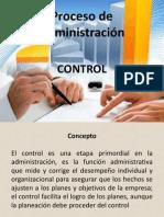 Proceso de Administración Control