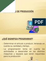 PROGRAMAS DE PRODUCCIÓN