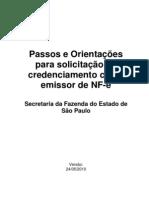 Manual Credenciamento Nota Fiscal Eletronica