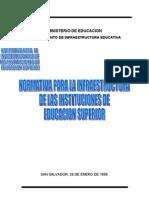 Normativa Para La Infraestructura Educacion Superior