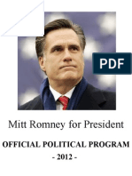 Mitt Romney for President - Official Political Program 2012