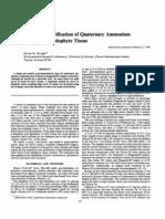 Quantitation and Purification of Qua Ternary Ammonium