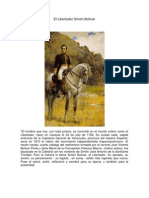 biografia de El Libertador Simón Bolívar