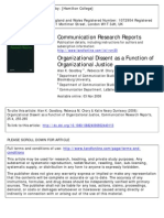 Goodboy, Chory, Dunleavy - Organizational Dissent as a Function of Organizational Justice