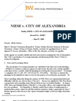 NIESE v. CITY OF ALEXANDRIA, Record No. 012007