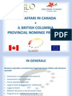 Doing Business in Italy and Canada - The BC Provincial Nominee Program