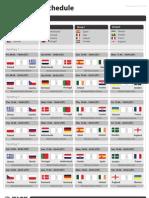 Kick Prophet Euro 2012 Schedule Print A4 CET 120404