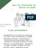 Sistemas de Informação de Gestão em Saúde