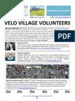 Velo Village Volunteers Newsletter #2