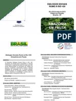 Folder Seminário Diálogos Sociais
