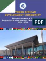 RISDP SADC Secretariat Desk Assessment Final Print
