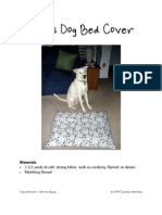 Amy's Dog Bed Cover Sewing Pattern