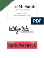 Trela Katelyn Logos Bcard
