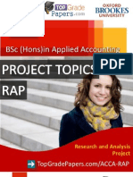 Acca - Bsc Hons Degree - Rap Topics - Top Grade Papers
