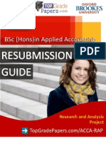 Acca - Bsc Hons Degree - Re Submission Guide - Top Grade Papers