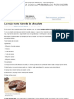 La mejor torta húmeda de chocolate _ Blog de la chef Jackie - Yahoo! Mujer Argentina