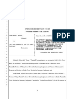 Plaintiff's Response to Motion to Strike Cross Motion