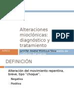 Alteraciones mioclónicas