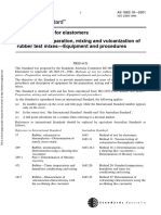 As 1683.19-2001 Methods of Test for Rubber Preparation Mixing and Vulcanization of Rubber Test Mixes - Equipm