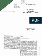 """8. Alain Rouquié, """"De los militares legalistas al Estado terrorista"""". En El Estado militar en América Latina. Ed. Siglo XXI, México, 1984. Capitulo 8"""