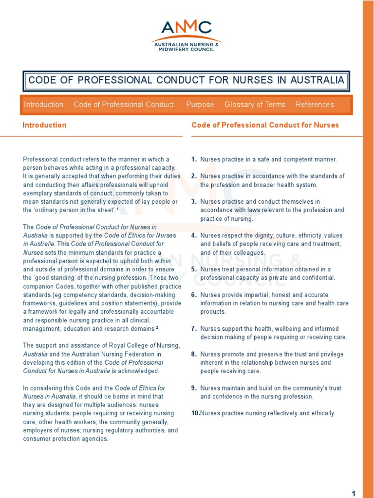 anmc rn competency standards