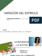 VARIACIÓN DEL ESTIMULO