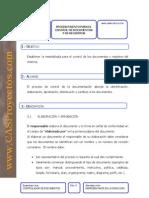 Ejemplo Procedimiento Control de Documentos y Registros Cas Proyectos