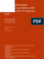 The Efficient Market Hypothesis- Problems With Interpretations of Empirical Tests