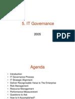 5. IT Governance