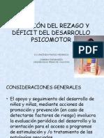 ATENCIÓN DEL REZAGO Y DÉFICIT DEL DESARROLLO PSICOMOTOR