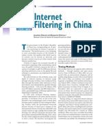 Internet Censorship in China