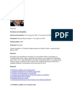 Colombia Presidentes 1998-2010docx