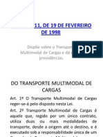 LEI Nº 9611 - TRANSPORTE MULTIMODAL