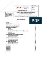 Project Standards and Specifications Measurement of Hydrocarbon Liquids Rev01