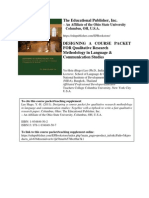 Course Packet and Teaching Supplement to Teach Qualitative Research Methodology in Language and Communication Studies Published by the Educational Publisher 2011