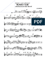 Louis Armstrong Melancholy Blues Sheetmusic Trade Com