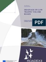 Drainage on Low Traffic Vol. Roads