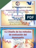 4.2 DISEÑO DE LOS METODOS DE EVALUACION DE DESEMPEÑO